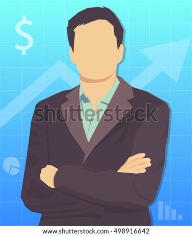 Businessman. The vector image of a businessman.