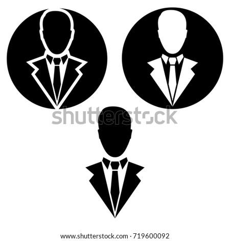 businessman vector icon.  businessman logo