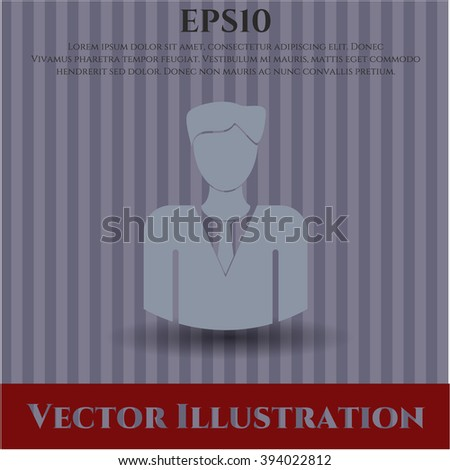 Businessman vector icon or symbol