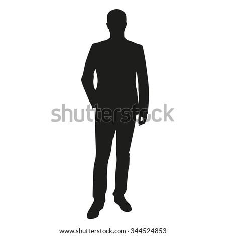 Businessman vector silhouette