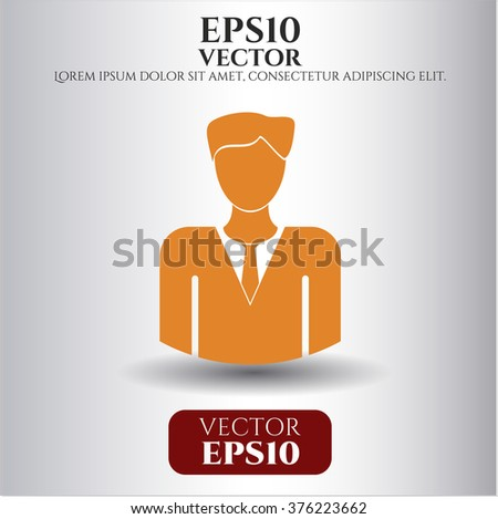 Businessman vector symbol