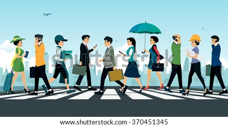 businessman walking on the