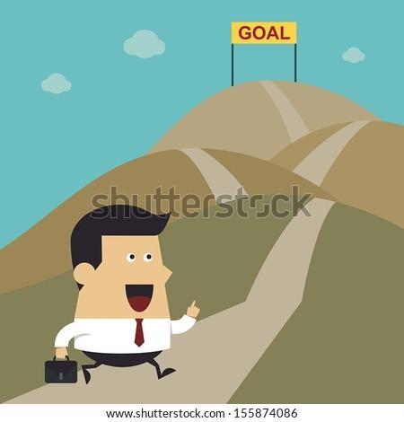 businessman walking on the