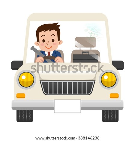 Businessman while driving