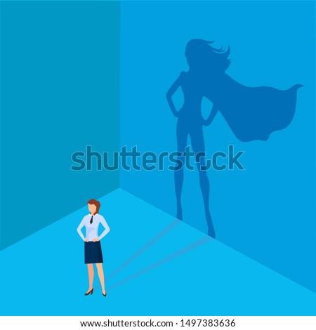 businessman with a superhero