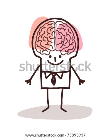 businessman with big brain