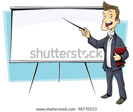 businessman with flip-chart