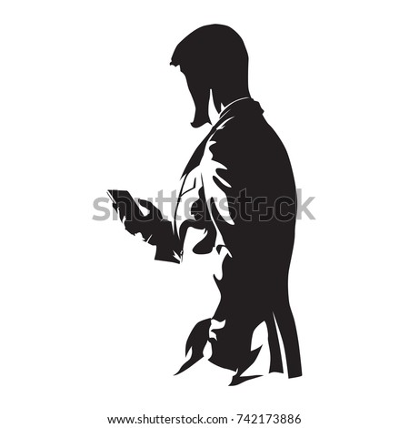 businessman with phone  man in