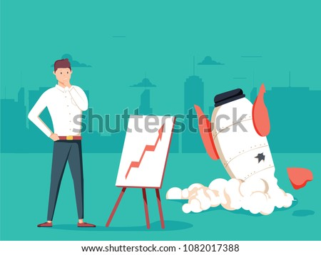 businessman with plan and