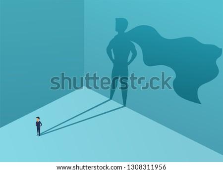 businessman with shadow