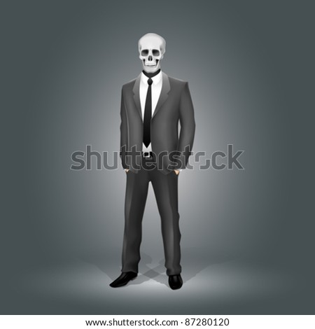 Businessman with Skull Head (EPS10)
