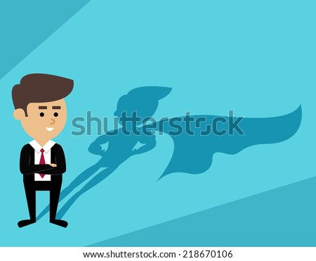 businessman with superhero cape