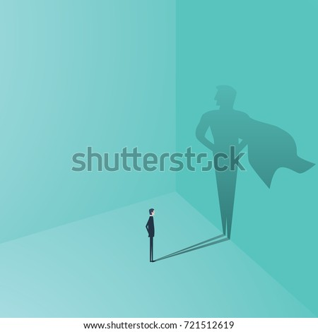 businessman with superhero