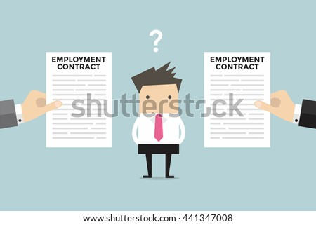 businessman with two employment