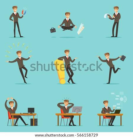 businessman work process series