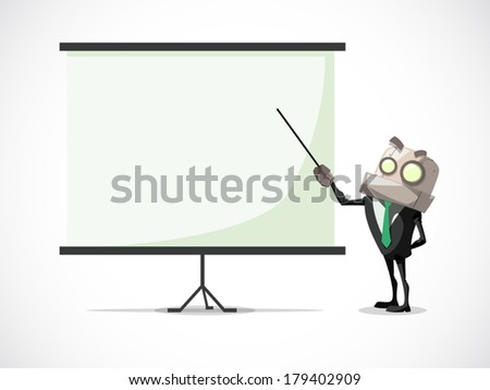businessman working on his presentation, business concept