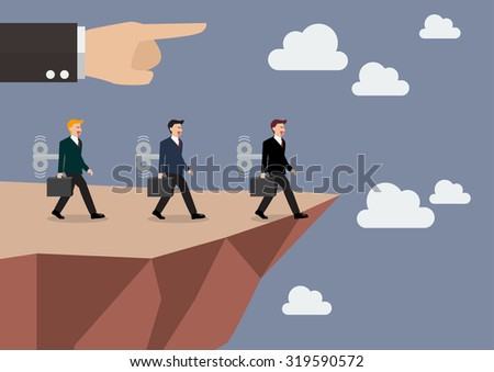 businessmans walk straight into
