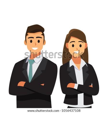 businessmen consulting .Business concept cartoon illustration