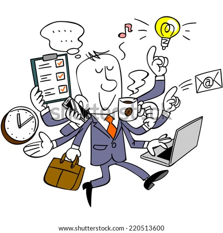 Image result for caricature of a multi-tasker