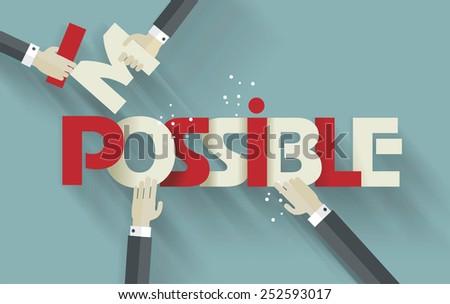 businessmen  hands breaking up