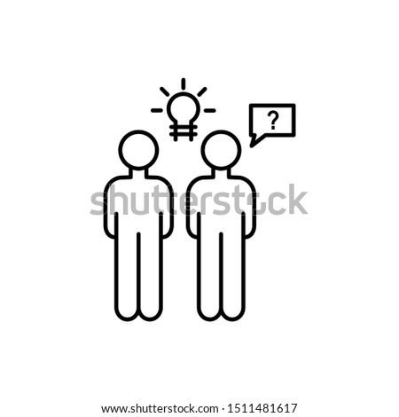 Businessmen overpopulation idea icon. Element of overpopulation thin line icon