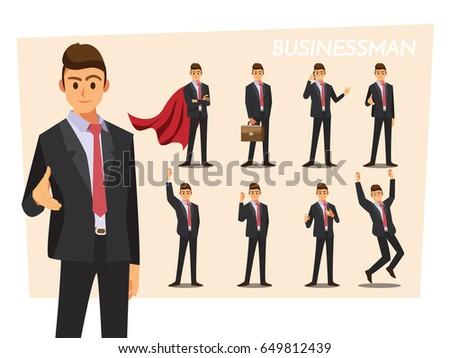 Businessmen set ,Vector illustration cartoon character. Stock photo ©
