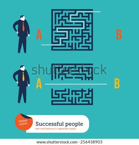businessmen using different