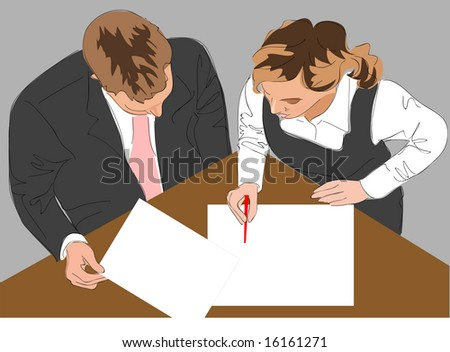businessmen with documents