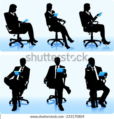 Businessmen with tablets