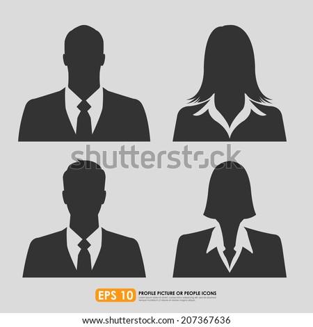 businesspeople avatar profile