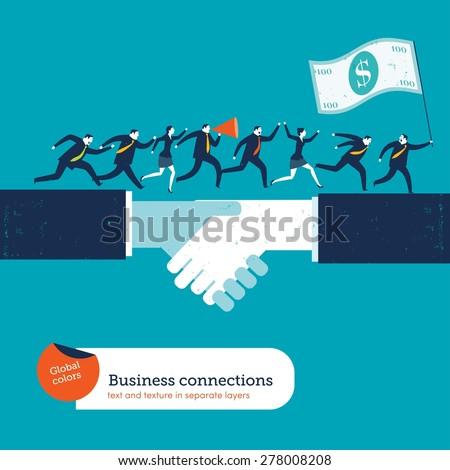 businesspeople on handshake