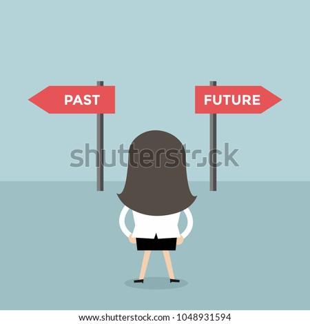 businesswoman decision about