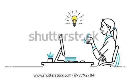 businesswoman  female office