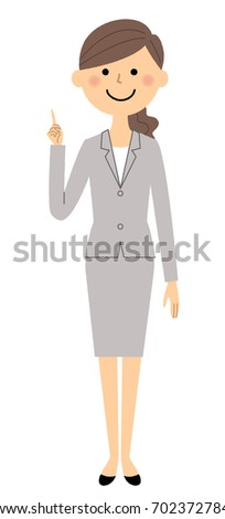 Businesswoman,Finger pointing