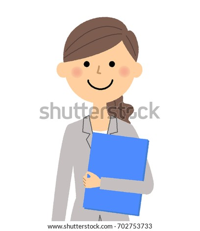 Businesswoman,Having files