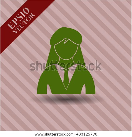 Businesswoman icon or symbol