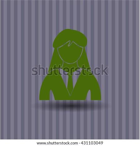 businesswoman icon vector symbol flat eps jpg app web