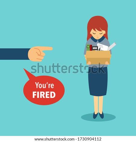 businesswoman leaving job