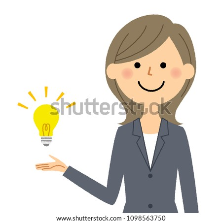 Businesswoman making a suggestion