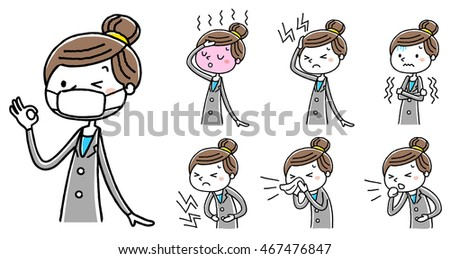 Businesswoman: poor physical condition, set Stock photo ©