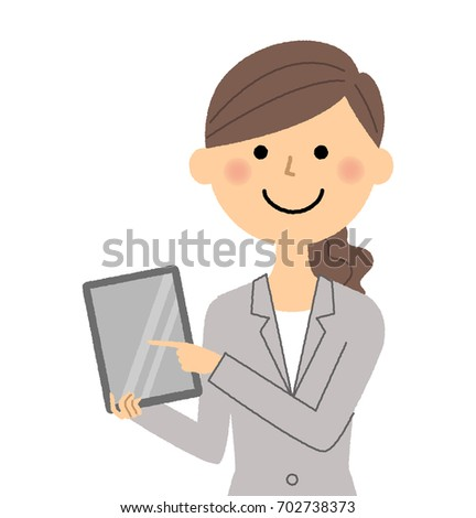 Businesswoman,Tablet