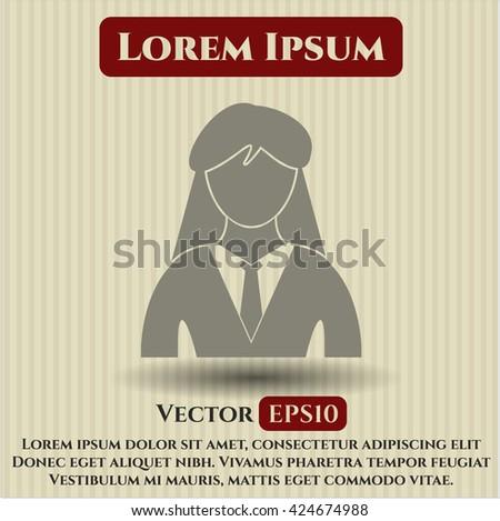 Businesswoman vector icon