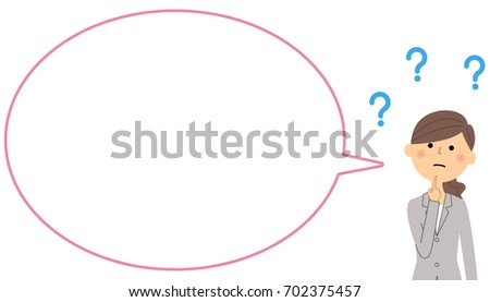 Businesswoman with blank text bubble,Balloon