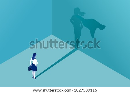 businesswoman with superhero
