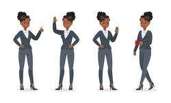 businesswoman working in office character vector design