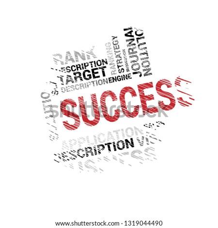 bussines concept wih text success - success word cloud