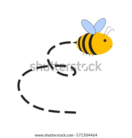 busy bee abstract flying bee