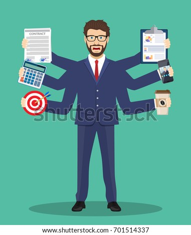 busy businessmen character