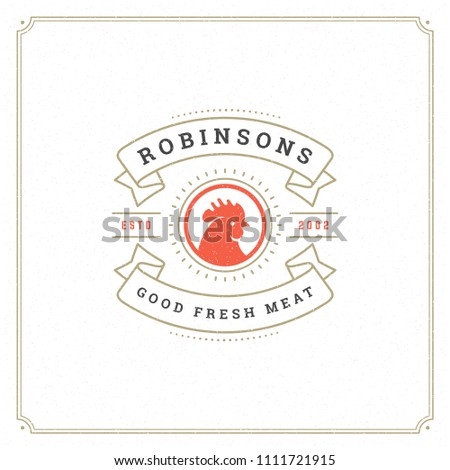 butcher shop logo design vector ...