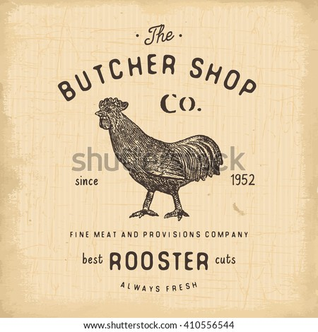 butcher shop vintage emblem